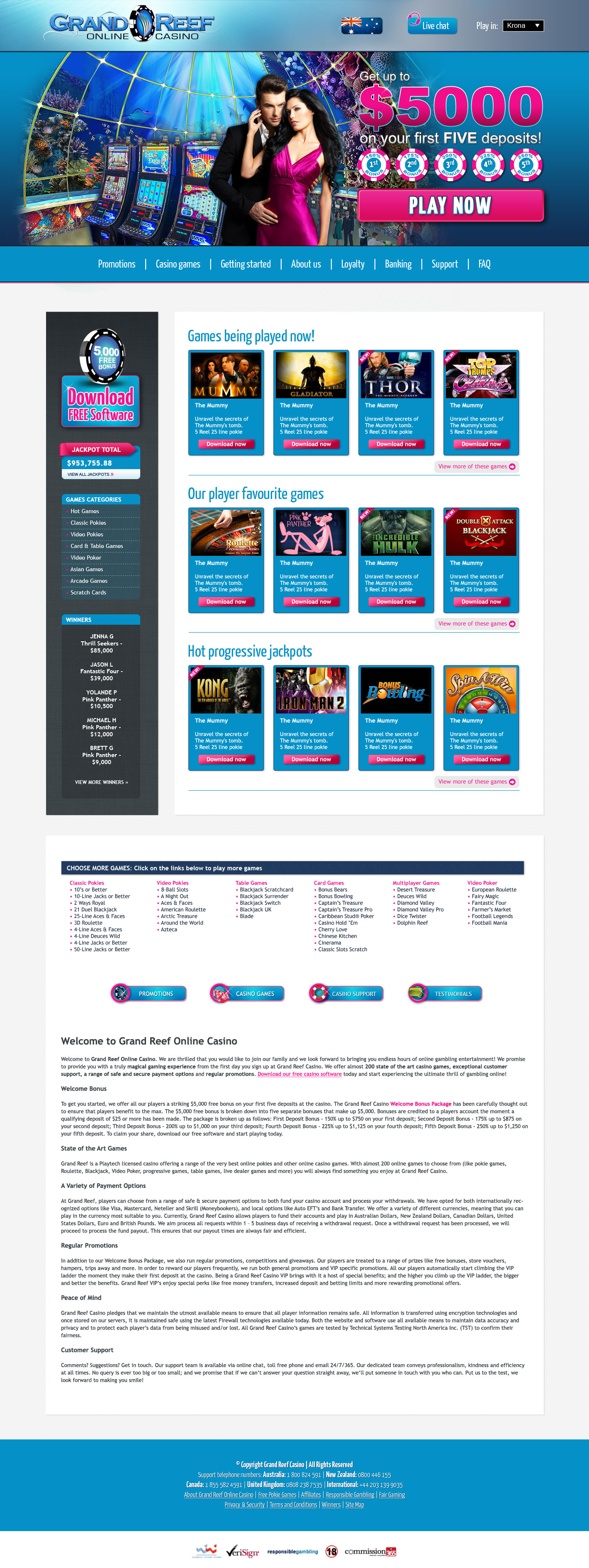 Design for Grand Reef Casino
