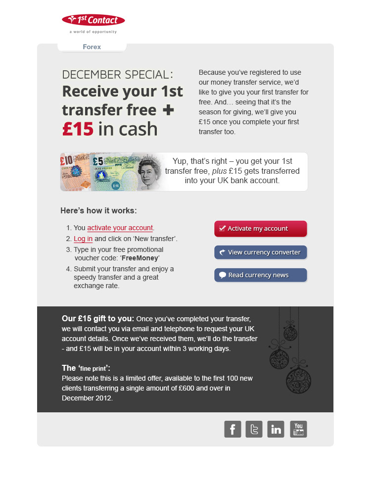 1st contact forex promotional voucher code