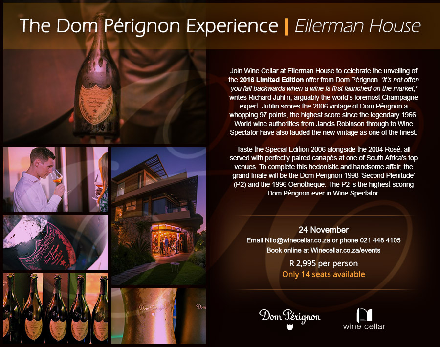 A recent invitation design for a Dom Pérignon tasting experience.