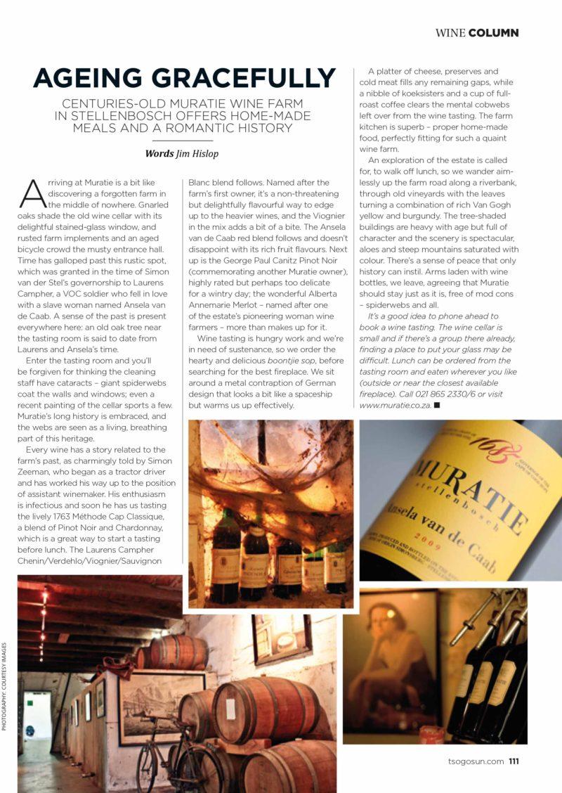 magazine layout and copy